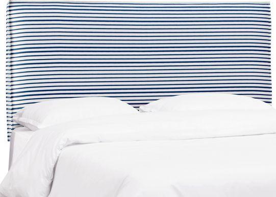 Delphina Navy King Upholstered Headboard
