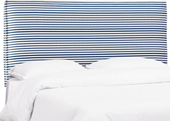 Delphina Navy Queen Upholstered Headboard