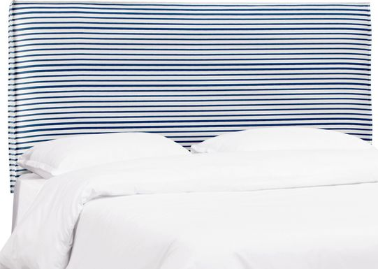 Delphina Navy Twin Upholstered Headboard