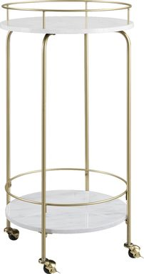Delverton White Bar Cart