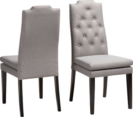 Delwood Gray Side Chair, Set of 2