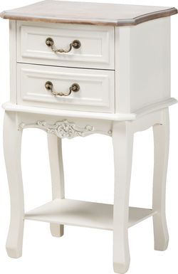Demille White End Table