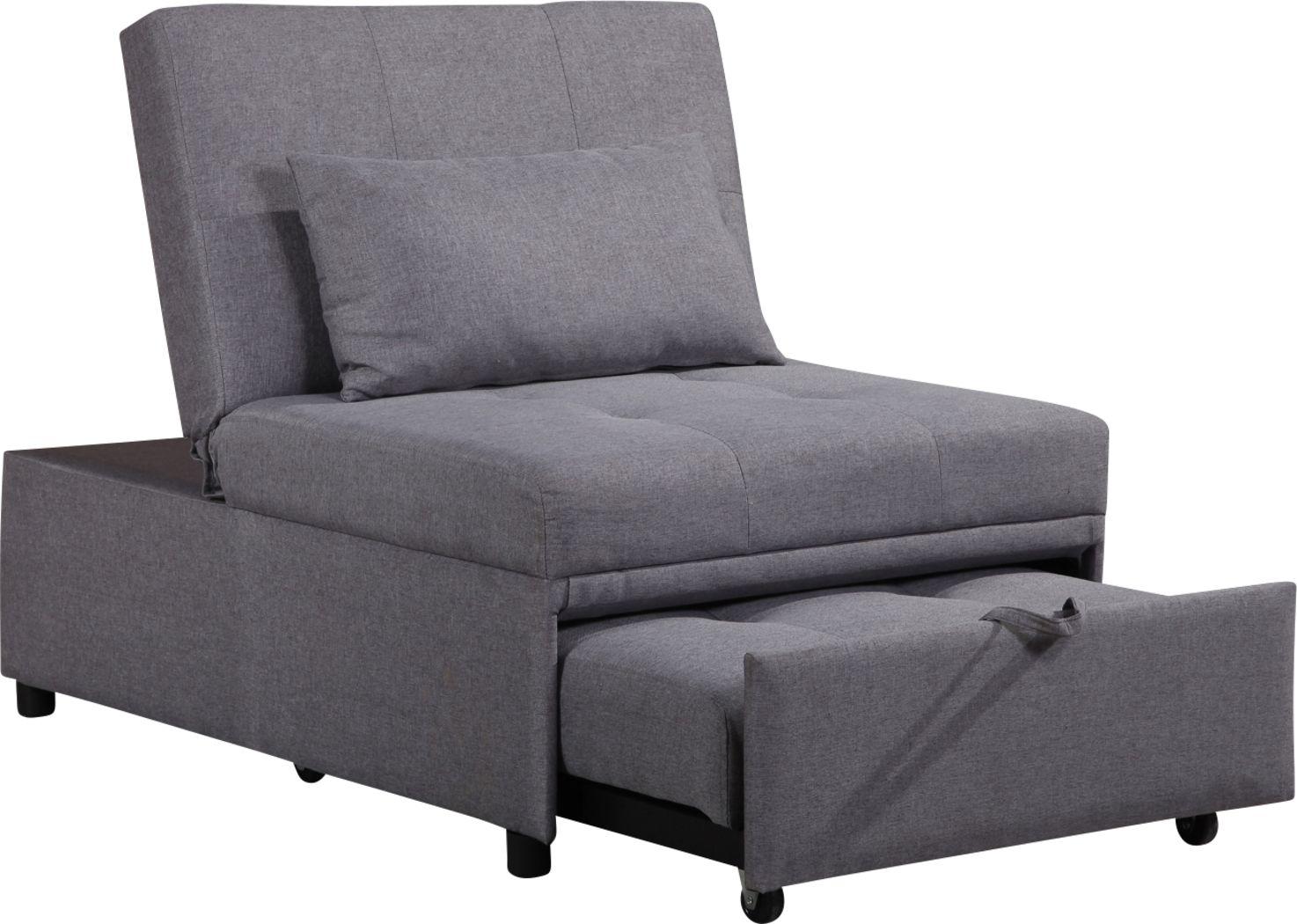 Denvir Gray Convertible Chair