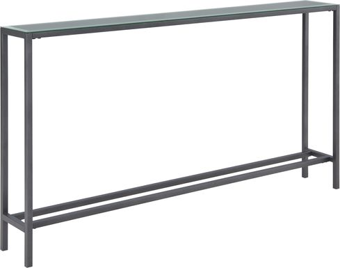 Desner Gray Console Table