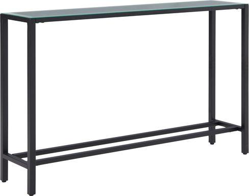 Desnet Black Console Table