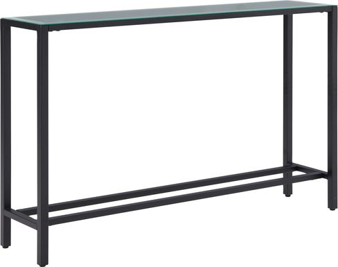 Desnet Black Console Table