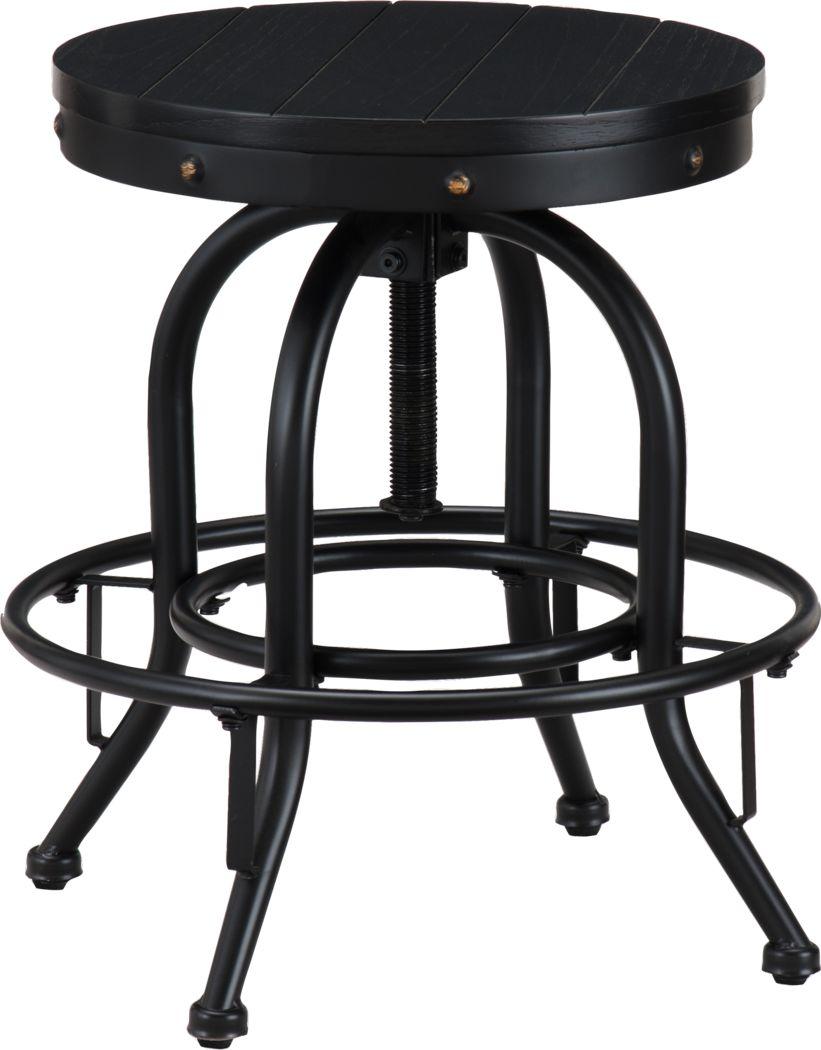 Detwiler Black Adjustable Office Chair