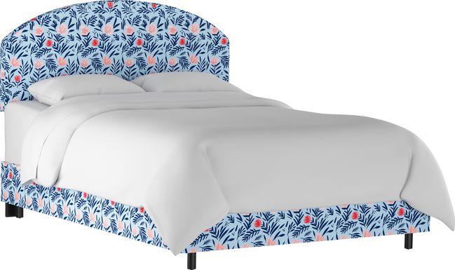 Devany Blue King Upholstered Bed