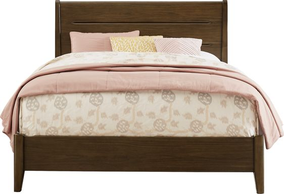 Devon Loft Walnut 3 Pc King Panel Bed