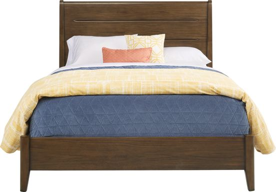 Devon Loft Walnut 3 Pc Queen Panel Bed