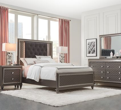 Diamond Falls Gray 5 Pc King Panel Bedroom