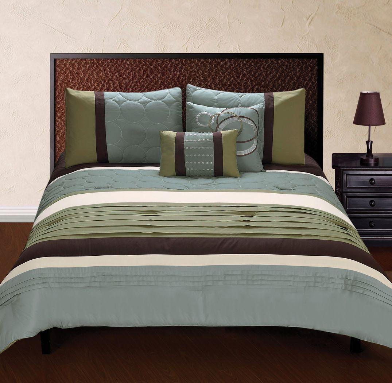 Diana Pointe Tan 5 Pc King Comforter Set