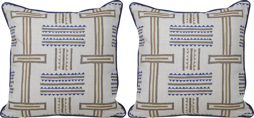 Dianara Blue Indoor/Outdoor Pillows, Set of Two