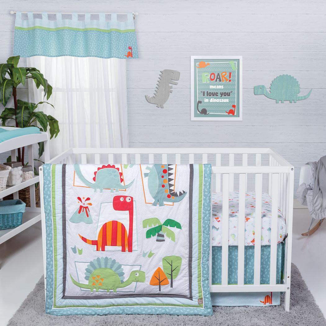 Dino Town Sky 3 Pc Baby Bedding Set