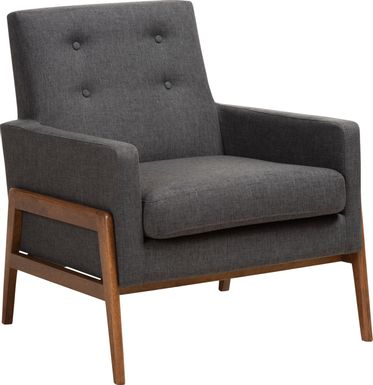 Diplari Dark Gray Accent Chair