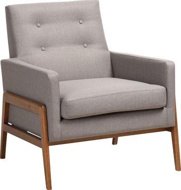Diplari Gray Accent Chair