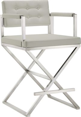 Director Gray Counter Height Stool