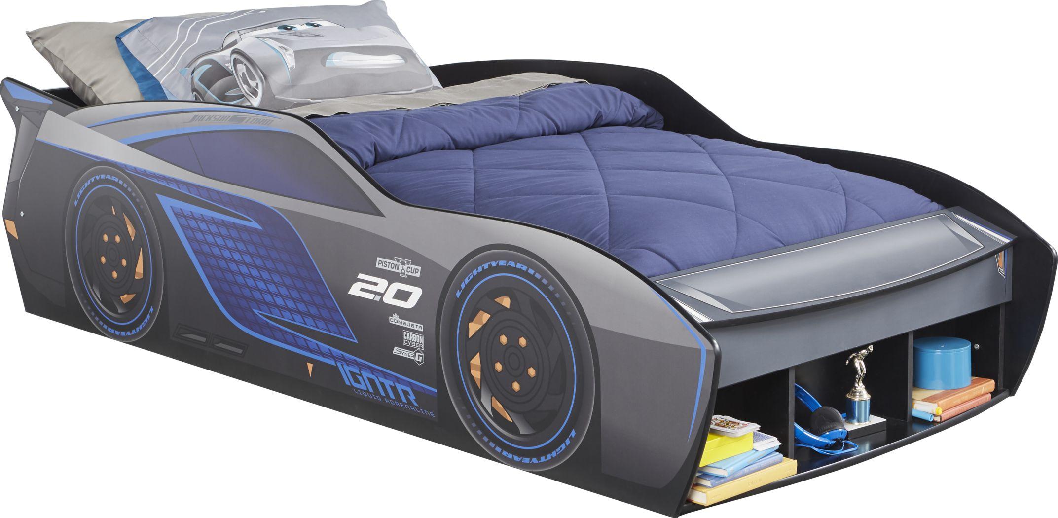 Disney/Pixar Cars Jackson Storm™ Blue 3 Pc Twin Car Bed