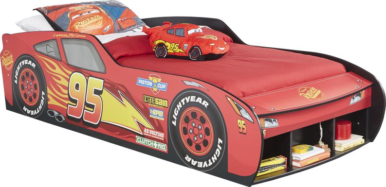 Disney/Pixar Cars Lightning McQueen™ Red 3 Pc Twin Car Bed
