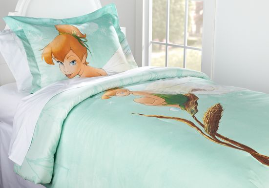 Disney Fairies Tinker Bell Seafoam 3 Pc Full Bed Set