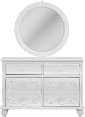 Disney Princess Dreamer White Dresser & Mirror Set
