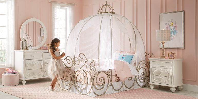 Disney Princess Dreamer White 6 Pc Full Carriage Bedroom