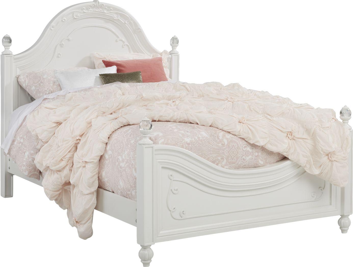 Disney Princess Dreamer White 3 Pc Full Panel Bed Rooms To Go