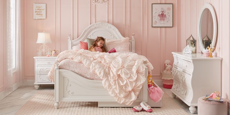Disney Princess Dreamer White 5 Pc Full Panel Bedroom