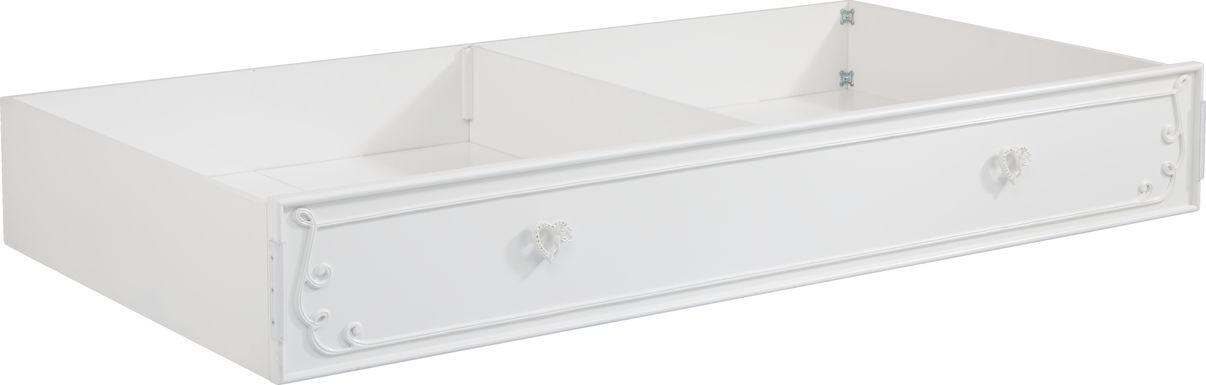 Disney Princess Dreamer White Twin Storage Trundle