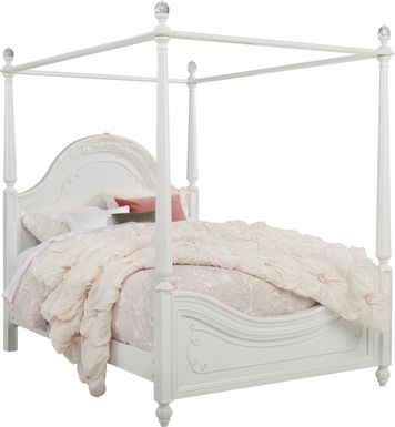 Disney Princess Dreamer White 4 Pc Twin Canopy Bed