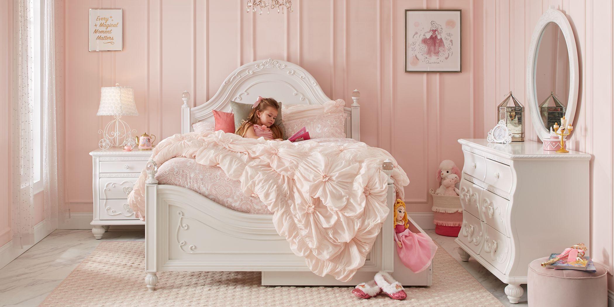 Disney Princess Dreamer White 5 Pc Twin Panel Bedroom