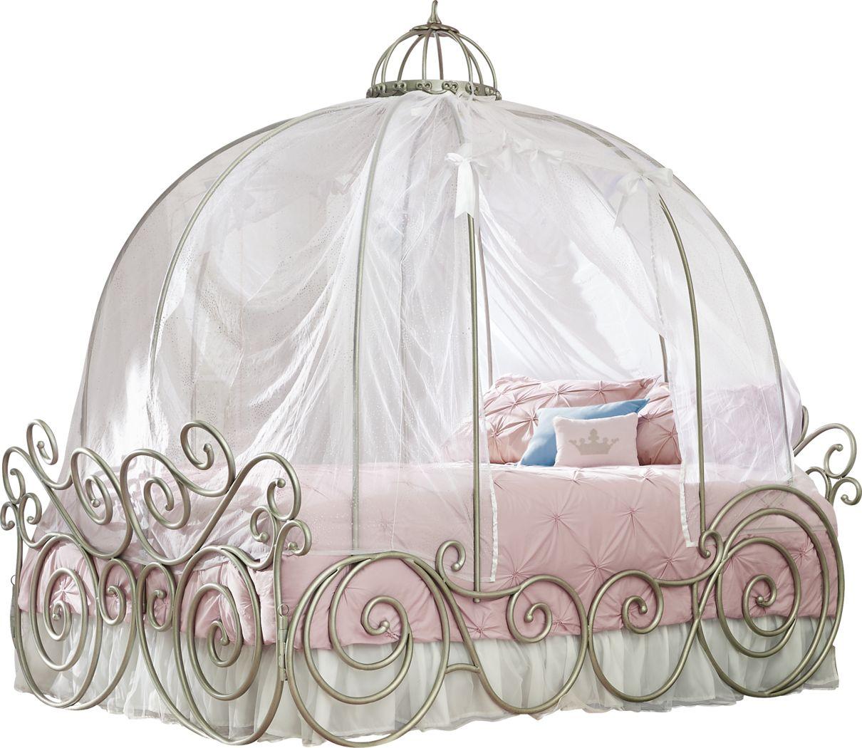 Disney Princess Fairytale Metal 4 Pc Full Carriage Bed