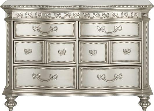 Disney Princess Fairytale Silver 6 Drawer Dresser
