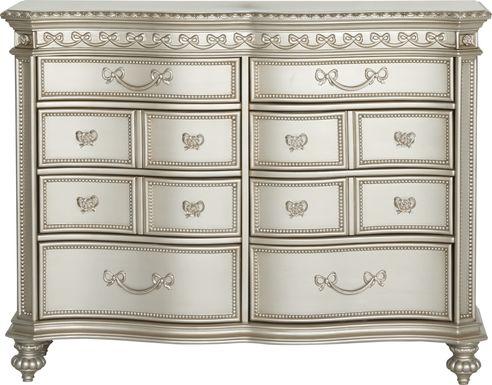 Disney Princess Fairytale Silver 8 Drawer Dresser