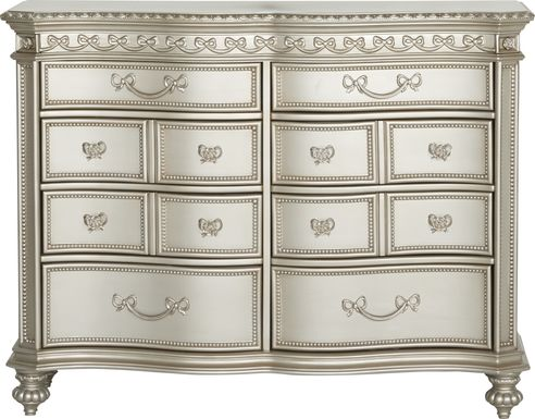 Disney Princess Fairytale Silver 8 Drawer Dresser