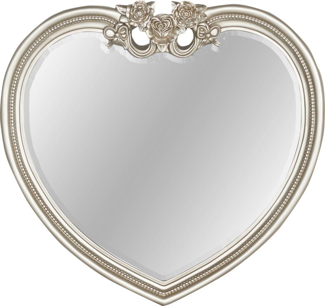 Disney Princess Fairytale Silver Heart Mirror