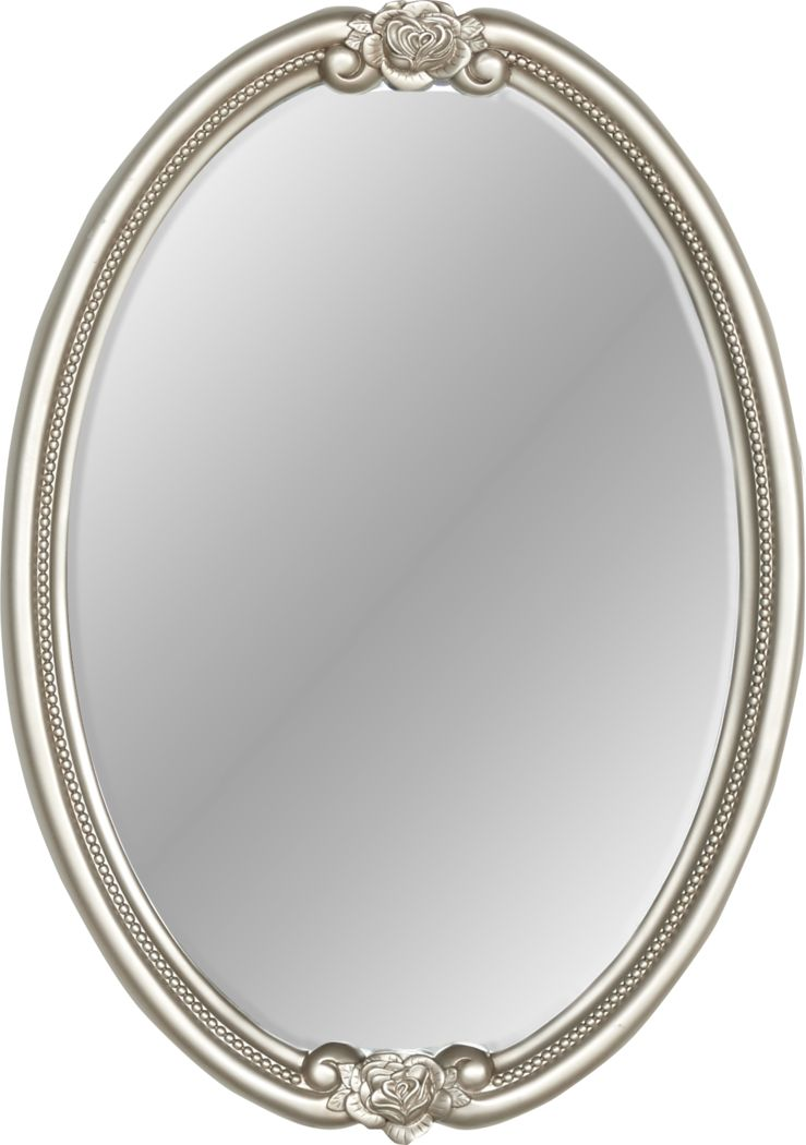 Disney Princess Fairytale Silver Oval Mirror