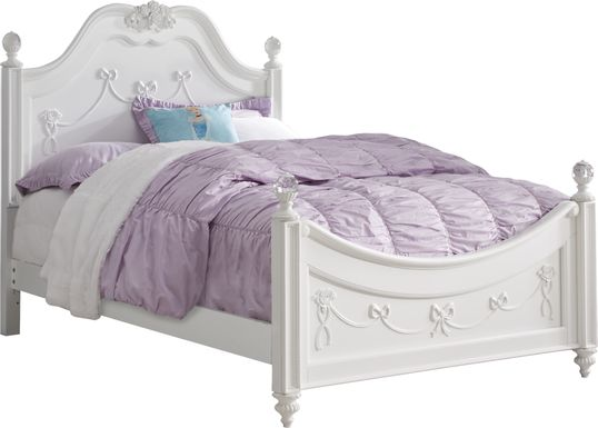 Disney Princess Fairytale White 3 Pc Full Poster Bed