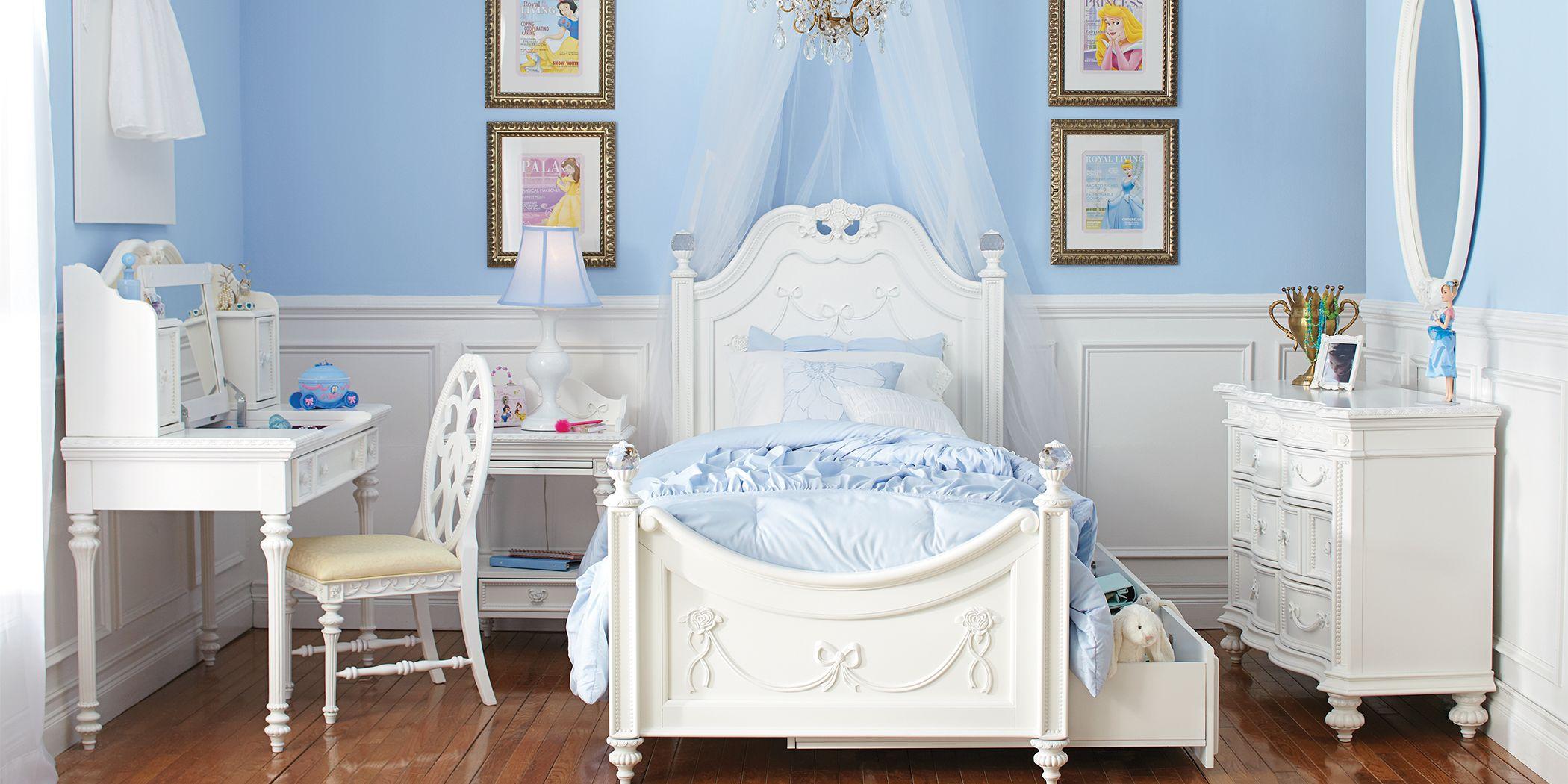 Disney Princess Fairytale White 5 Pc Twin Poster Bedroom