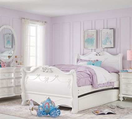 Disney Princess Fairytale White 5 Pc Twin Sleigh Bedroom