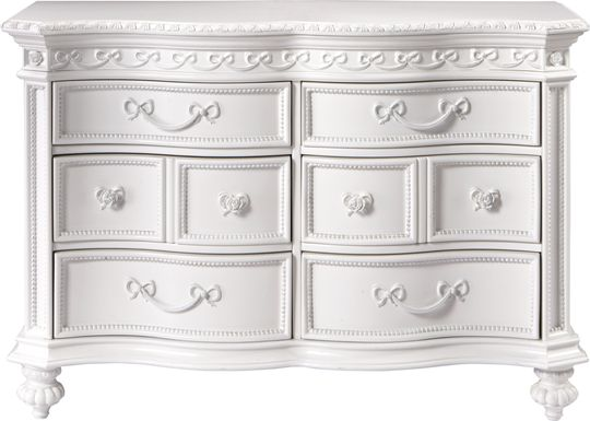 Disney Princess Fairytale White 6 Drawer Dresser