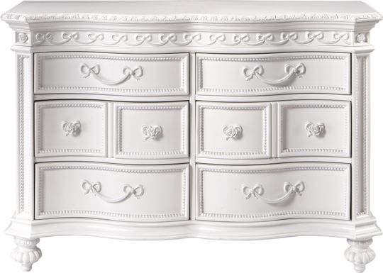 Disney Princess Fairytale White 6 Drawer Dresser