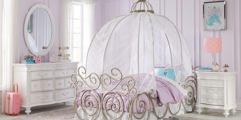 Disney Princess Fairytale White 6 Pc Full Carriage Bedroom