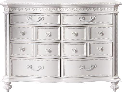 Disney Princess Fairytale White 8 Drawer Dresser