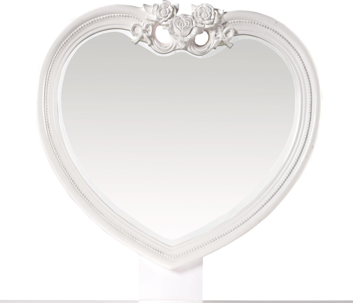 Disney Princess Fairytale White Heart Mirror