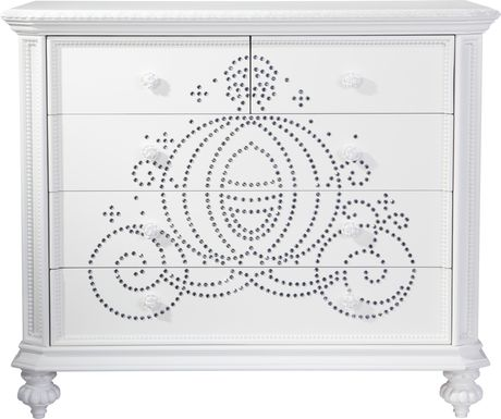 Disney Princess Fairytale White Jeweled Carriage Cabinet