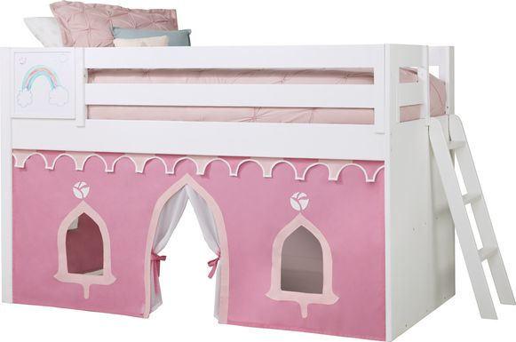 Disney Princess Fairytale White Loft Bed with Whiteboard
