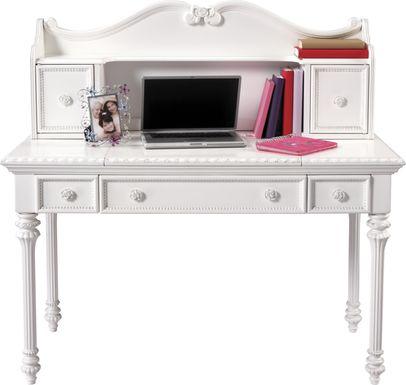 Disney Princess Fairytale White Vanity Desk with Hutch
