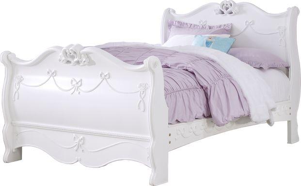 Disney Princess Fairytale White 3 Pc Full Sleigh Bed