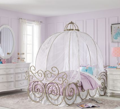 Disney Princess White 6 Pc Twin Carriage Bedroom